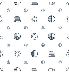 sunset icons pattern seamless white background vector image