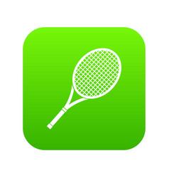 tennis racket icon digital green vector image