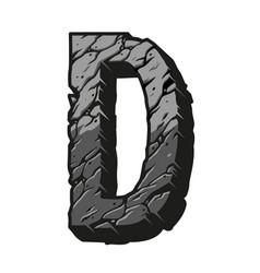 Vintage gray letter d desert design vector