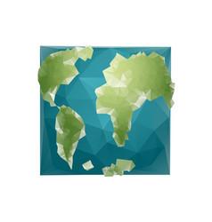 Earth polygon planet geometric figure square vector
