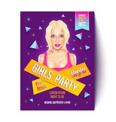 girls party in nightclub vector image