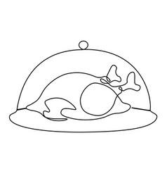 roast chicken vector image