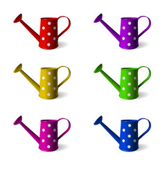 watering can set of children s watering cans in vector image vector image