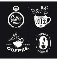 Coffee related quotes set vintage vector image vector image