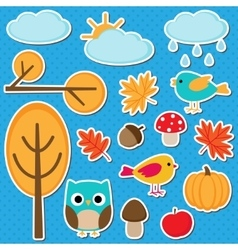 Different autumn elements vector image