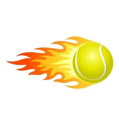 Flaming tennis ball vector
