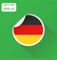 germany sticker flag icon business concept vector image