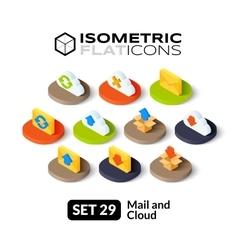 Isometric flat icons set 29 vector image
