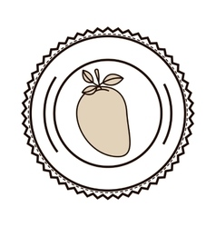 silhouette monochrome of dish with mango vector image