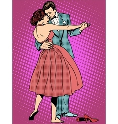 Wedding dance lovers man and woman vector image vector image