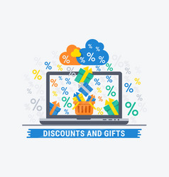 discounts and gifts vector image