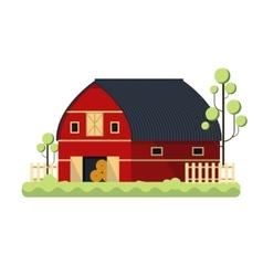 Farming barn flat for storing hay - vector image vector image