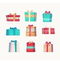Gift set Christmas card poster banner vector image vector image