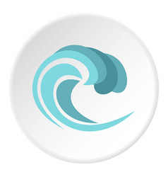 round wave icon circle vector image vector image