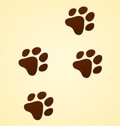 wildlife cartoon trace vector image vector image