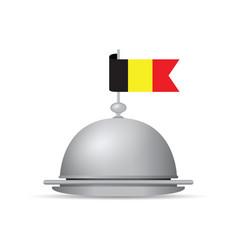 belgium flag dinner platter vector image vector image