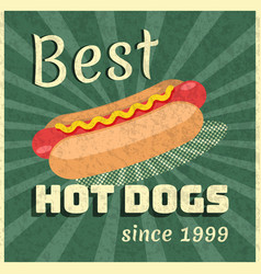 poster for hot dogs ad vector image