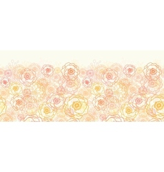 Warm flowers horizontal seamless pattern vector image vector image