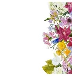 watercolor floral seamless border vector image vector image