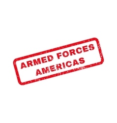 Armed Forces Americas Rubber Stamp vector image