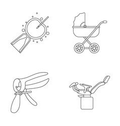 Artificial insemination baby carriage instrument vector