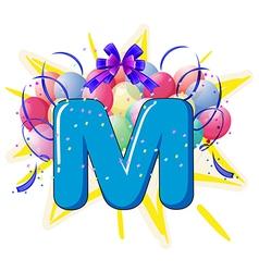 Balloon font series vector