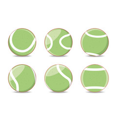balls to play tennis sport vector image