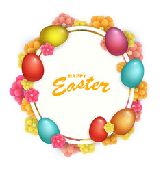 beautyful fresh background happy easter holiday vector image