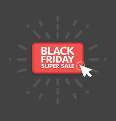 black friday sale commerce design mouse click vector image
