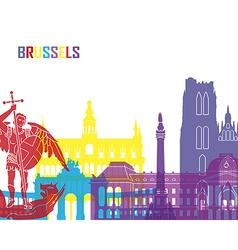 Brussels skyline pop vector