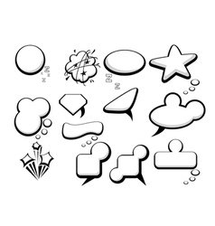 Bubble speech icons vector