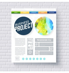 Business report ecological project template vector image