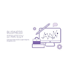 Business strategy concept corporate planning web vector