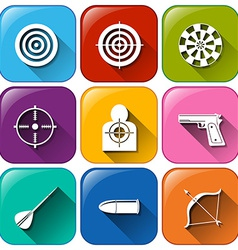 Buttons with the different sports that requires vector