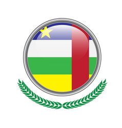 central-african-republic flag button vector image