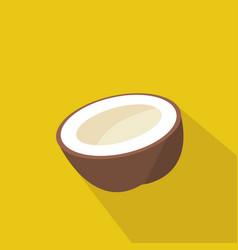 coconut cartoon flat icon brazil vector image