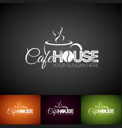 Coffee logo design template set cofe shop vector