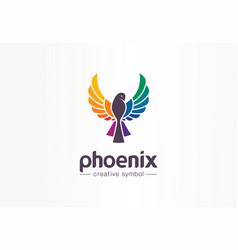 color phoenix creative symbol concept freedom vector image