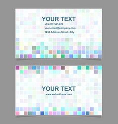 Colorful digital business card template design vector