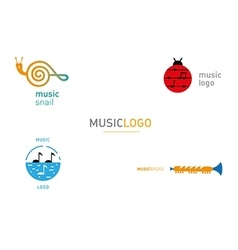 Creative series logos on the theme music vector