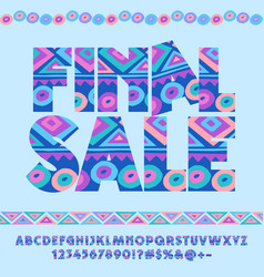 Cute blue original pattern logo final sale vector