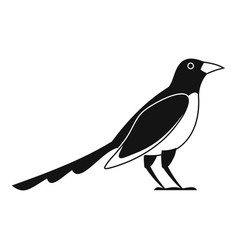 Cute magpie icon simple style vector