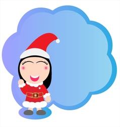 Cute Santa claus vector