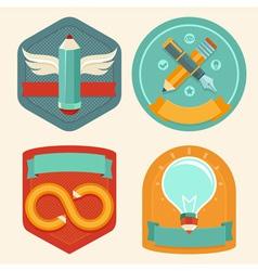 designer emblem vector image