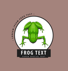 designer logo with a frog vector image