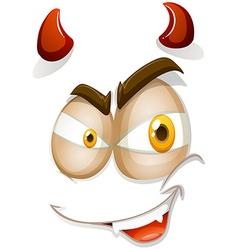 Devil face on white vector