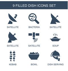 Dish icons vector