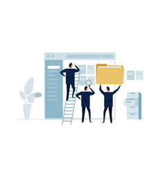 document management software team organize file vector image