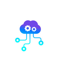 Edge computing technologies icon vector