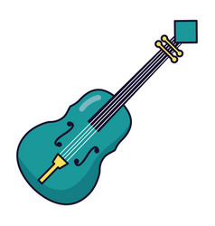 fiddle instrument music festival on white vector image
